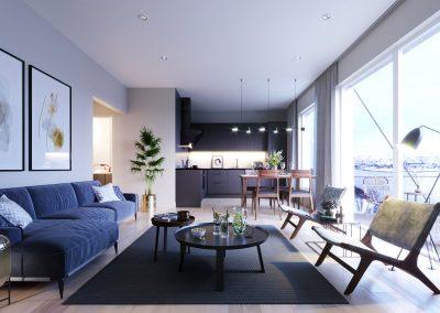 Stue i leilighet 203 - 54 kvm